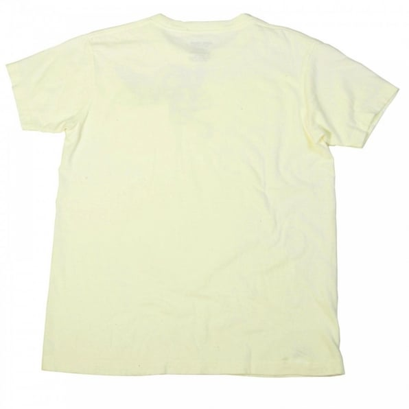 SUGAR CANE Limited Edition Mister Freedom Crew Neck Tubular Knit Slim Fit T-shirt in Ivory White SC73279