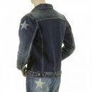 SUGAR CANE Lone Star 5 Year Aged Button Front Fitted Dark Hard Wash Denim Jacket for Men SC11901H
