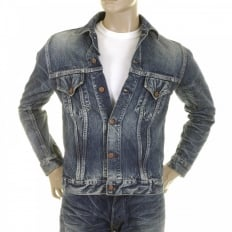 Lone Star Hard Light Wash Button Front Fitted Denim Jacket for Men SC11901H
