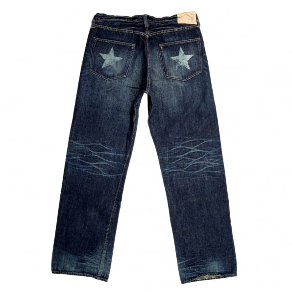 SUGAR CANE Lone Star SC40902H 5 Year Aged Wash Japanese Selvedge 14oz Denim Jeans with Vintage and Aged Finish