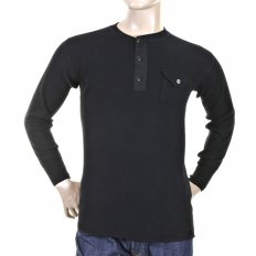 Mens Black Henley Neck Long Sleeve Fiction Romance Regular Fit Long Sleeve T-shirt SC65293