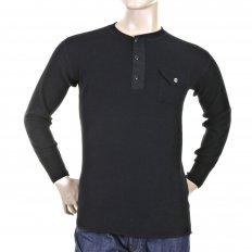 Mens Black Henley Neck Long Sleeve Fiction Romance Regular Fit Long Sleeve T-shirt SC65293