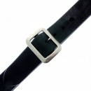 SUGAR CANE Mens Black Leather Casual Belt with Dull Brushed Steel Rollerball Buckle F01406