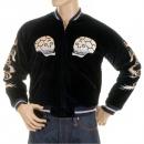 SUGAR CANE Mens Black Souvenir Velvet Suka Jun Fully Reversible Japan Jacket TT11783
