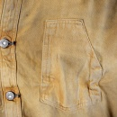 SUGAR CANE Mens Brown Vintage Wash Fiction Romance Denim Button Front Workwear Jacket SC12241H