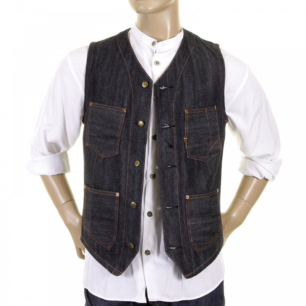 Superb Denim Sugarcane Waistcoat Buy Now At Niro Fashion