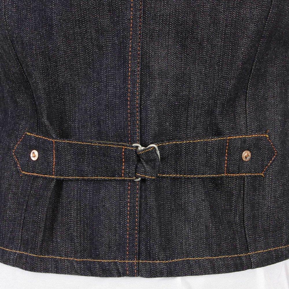Black denim waistcoat mens