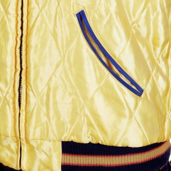 SUGAR CANE Mens Fully Reversible Dragon Embroidered in Silver and Wine YOKOTA AB Regular Fit Souvenir Suka Jacket TT11781