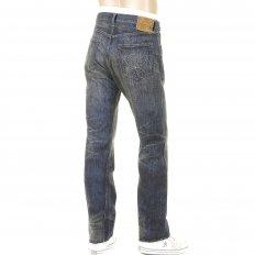 Mens Hawaiian Vintage Cut Hard Wash Japanese Selvedge Denim Jeans SC40401H