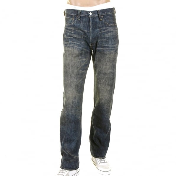 SUGAR CANE Mens Hawaiian Vintage Cut Hard Wash Japanese Selvedge Denim Jeans SC40401H