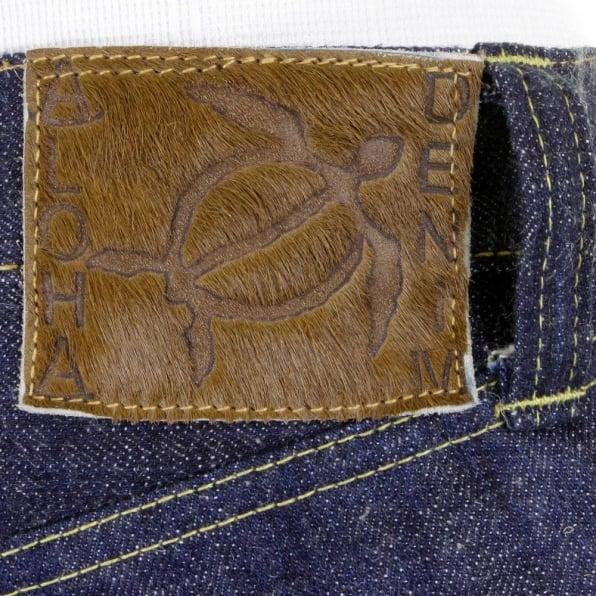 SUGAR CANE Mens Hawaiian Vintage Cut Navy None Wash Raw Japanese Selvedge Denim Jeans SC40401N