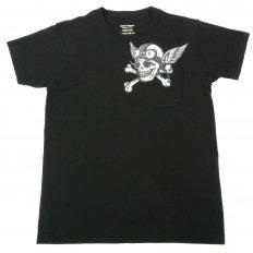 Mens Limited Edition Mister Freedom Tubular Knit Crew Neck Slim Fit Short Sleeve T-shirt in Black SC73279