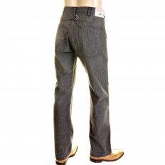 Mens Loose Fit Fiction Romance Vintage Cut Charcoal Grey Black Cotton Covert Engineer Pants SC40942