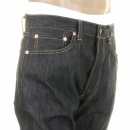 SUGAR CANE Mens Navy Slimmer Fitting Japanese Selvedge Non Wash Dry Star Denim Jeans SC40724N