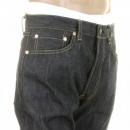 SUGAR CANE Mens Navy Slimmer Fitting Japanese Selvedge Non Wash Dry Star Denim Jeans SC40724N
