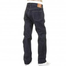 Mens Non Wash African Cotton Vintage Cut Japanese Selvedge Denim Jeans SC41947N