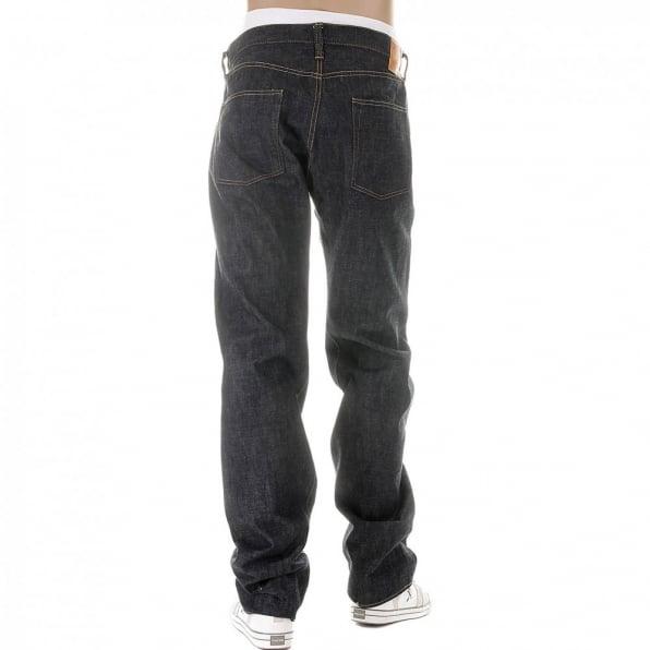 SUGAR CANE Mens Non Wash Vintage Cut Selvedge Denim Jeans SC42009N