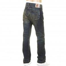 Mens Okinawa Vintage Cut Button Fly Selvedge Hard Wash Denim Jeans SC40301H