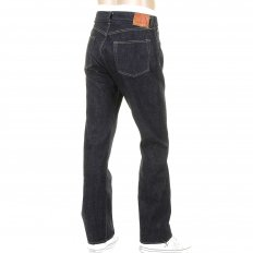 Mens One Wash Navy Vintage Cut Japanese Selvedge Denim Jeans SC41947A