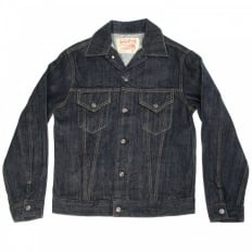 Mens One Wash Vintage Cut Regular Fit Western Style Denim Jacket SC11962A
