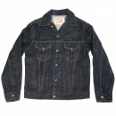 SUGAR CANE Mens One Wash Vintage Cut Regular Fit Western Style Denim Jacket SC11962A