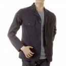 SUGAR CANE Mens Pinstriped Vintage Cut Regular Fit USA Made Work Jacket in Navy SC12455