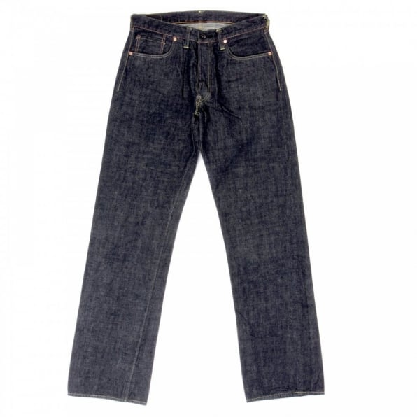 SUGAR CANE Mens Rinsed Vintage Cut Victory Star One Wash Selvedge Denim Jeans SC40045A