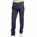 SUGAR CANE Mens Slim Fit Non Wash Straight Leg Navy Denim Jeans SC42014N
