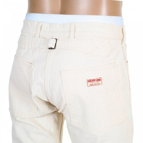SUGAR CANE Mens Straight Fit Cotton Unwashed Work Pant SC41008N