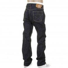 Mens Union Star Vintage Cut Japanese Hard Dark Wash Selvedge Raw Denim Jeans SC40065H