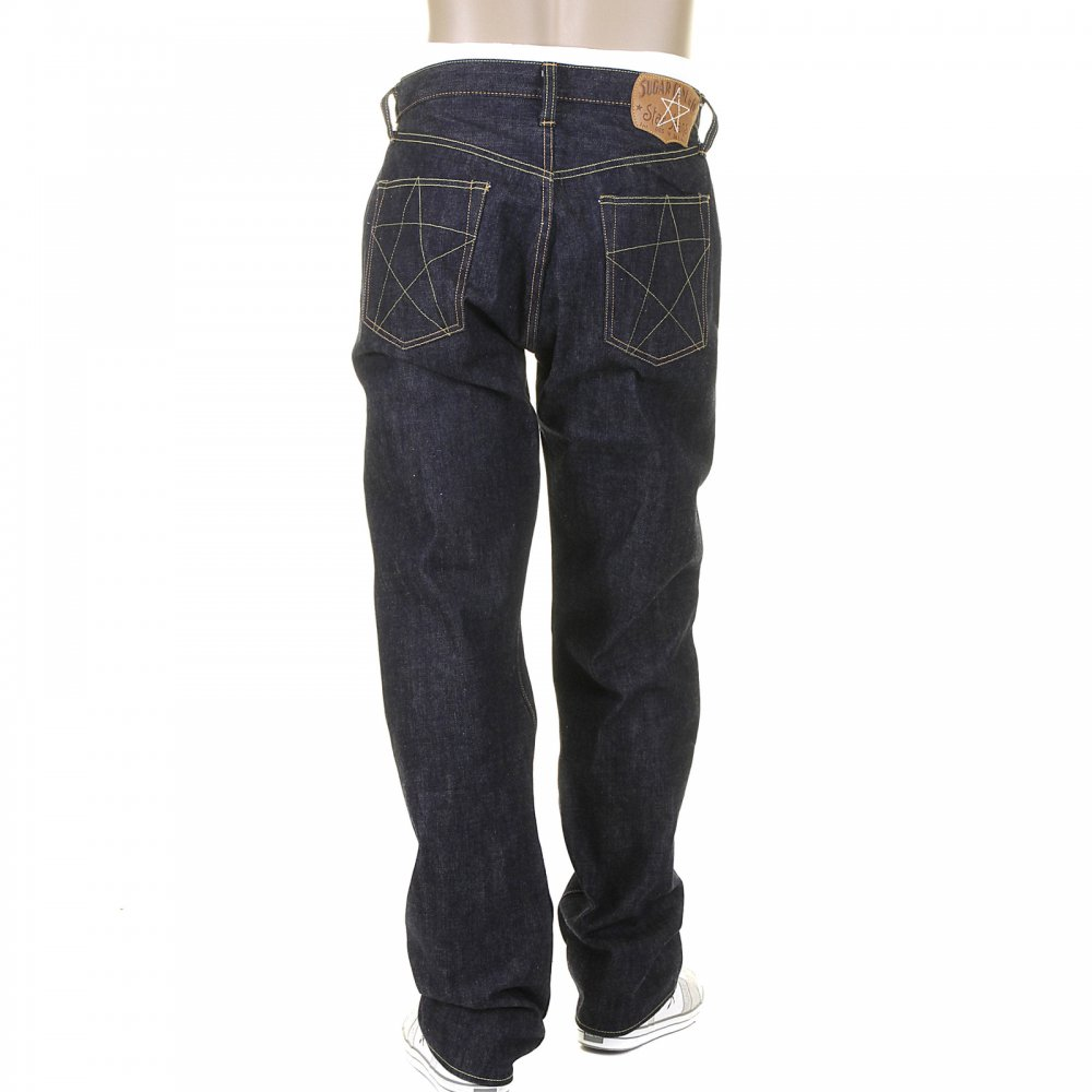 13fb34988aee SUGAR CANE Mens Union Star Vintage Cut Japanese Hard Dark Wash Selvedge Raw  Denim Jeans SC40065H