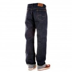 Mens Vintage Cut Non Wash Raw Selvedge Denim Jeans with Button Fly SC41945N