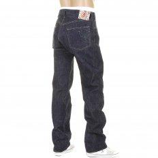 Mens Vintage Cut Okinawa Non Wash Selvedge Raw Denim Jeans SC40301N
