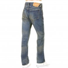 Mens Vintage Cut Union Star Japanese Selvedge Hard Light Wash Denim Jeans SC40065H