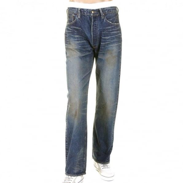 SUGAR CANE Mens Vintage Cut Union Star Japanese Selvedge Hard Light Wash Denim Jeans SC40065H