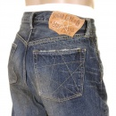 SUGAR CANE Mens Vintage Cut Union Star Japanese Selvedge Hard Light Wash Denim Jeans SC40065H