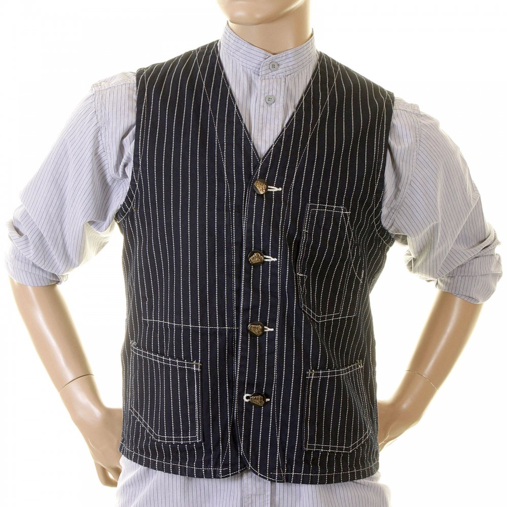 Shop For Navy Sugar Cane Wabash Waistcoat With Dotted