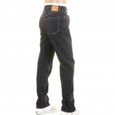 Navy One Wash 1966 Style Vintage Cut Japanese Selvedge Denim Jeans for Men SC41966A