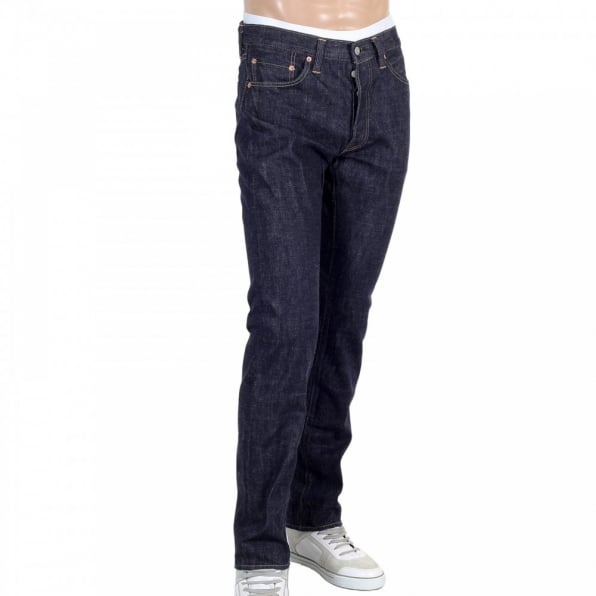SUGAR CANE Slim Fit Lower Rise Straight Leg Denim One Wash Jeans SC42014A