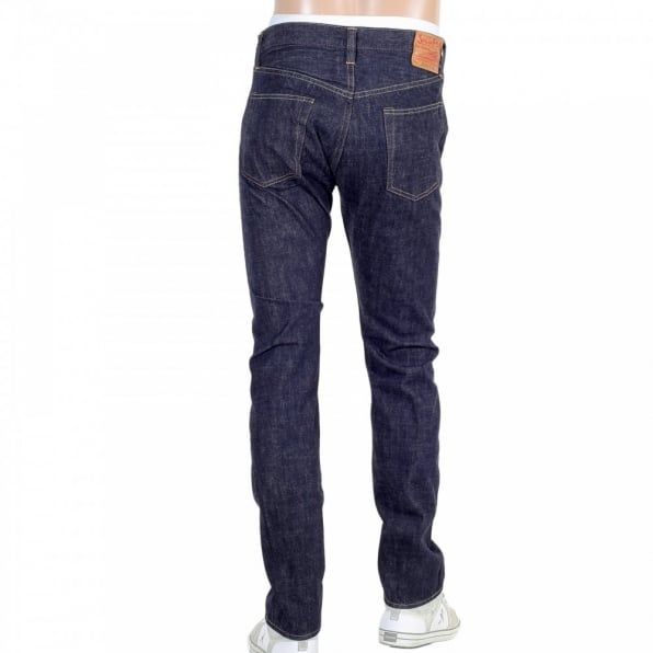SUGAR CANE Slim Fit Lower Rise Straight Leg Denim One Wash Jeans SC42014A