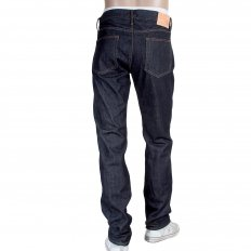 Slim Fit Navy One Wash Straight Leg Selvedge Denim Jeans for Men CP41218