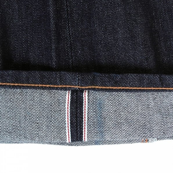 SUGAR CANE Slim Fit Navy One Wash Straight Leg Selvedge Denim Jeans for Men CP41218