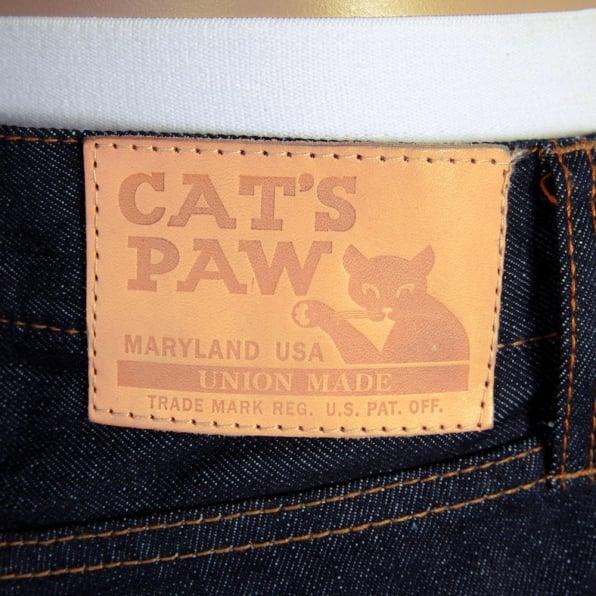SUGAR CANE Slim Fit Navy One Wash Straight Leg Selvedge Denim Jeans for Men CP41218