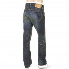 Union Star Vintage Cut Japanese Hard Dark Wash Selvedge Denim Jeans for Men SC40065H