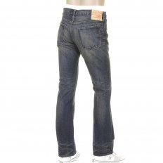 Vintage Boot Cut Dark Hard Wash Vintage Japanese Selvedge Denim Jeans SC40321H
