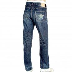 Vintage Cut Lone Star Hard Dark Japanese Selvedge Denim Jeans for Men SC40901H