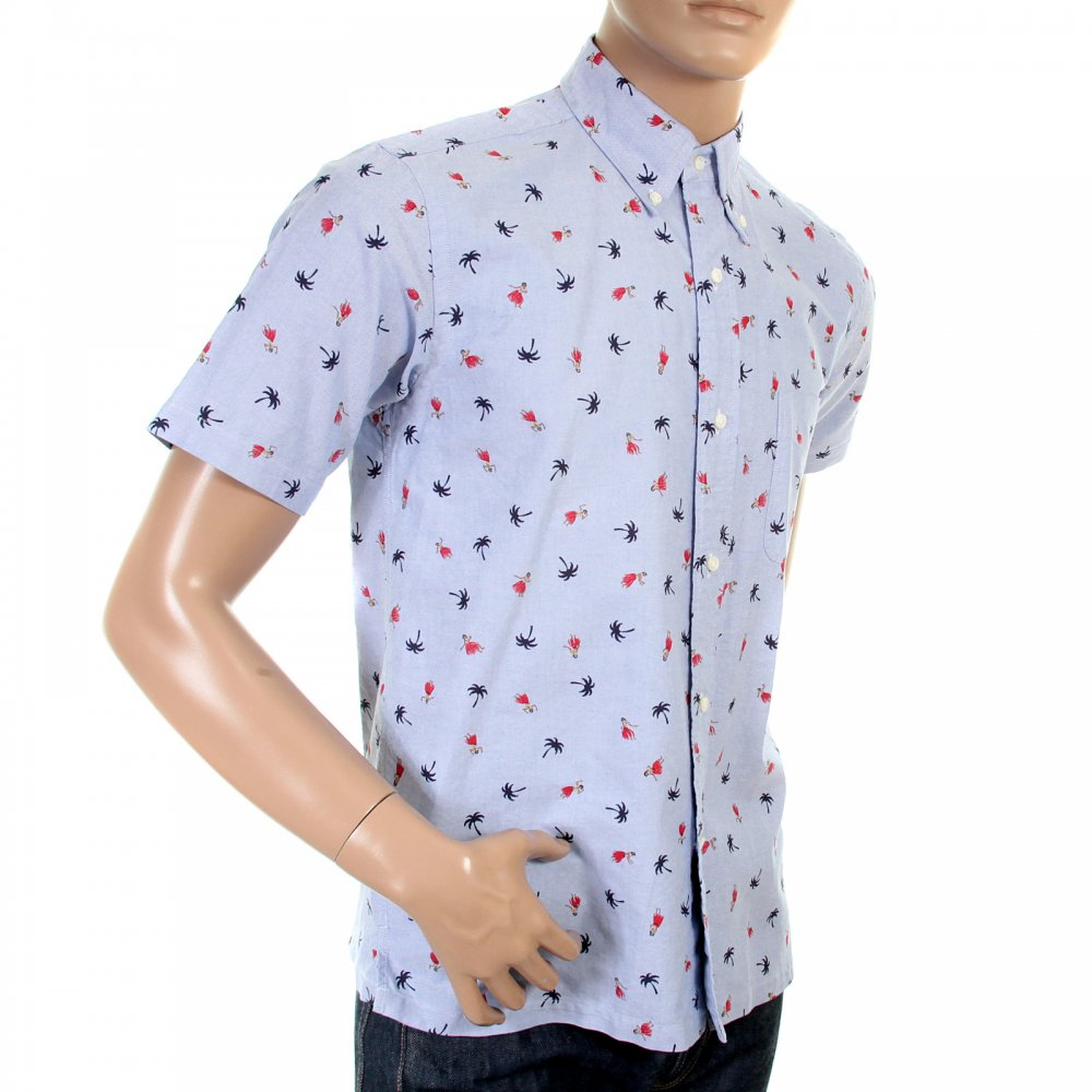 Oxford printed light blue shirt by sunsurf for fashion for Light blue button down shirt