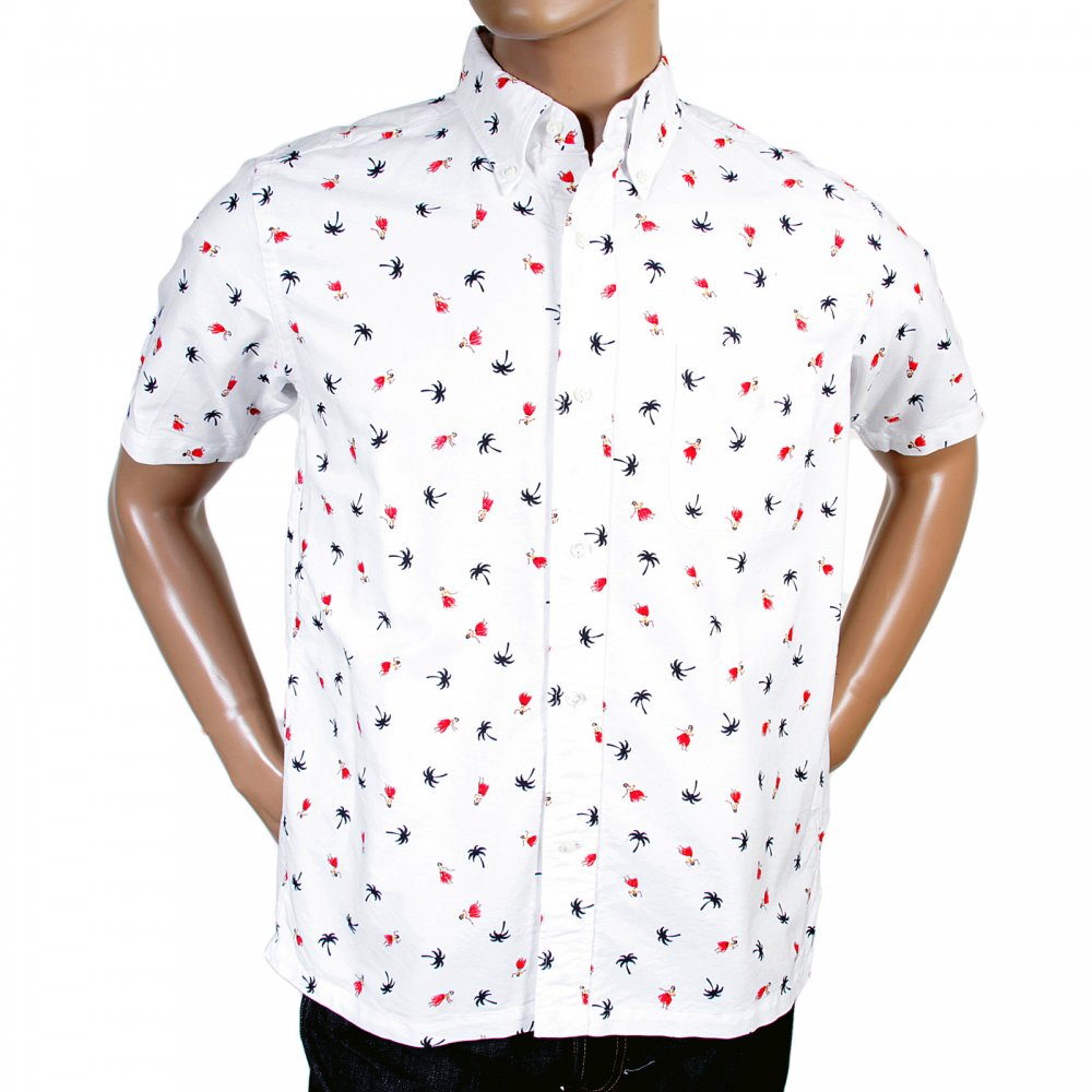Printed button down oxford shirts for men by sun surf for Printed shirts for men