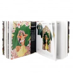 Limited Edition Hardback Aloha Project Image Book with Cover Bound in Blue F/Rayon Hawaiian Shirt Fabric SS01881