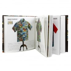 Limited Edition Hardback Aloha Project Image Book with Cover Bound in Brown F/Rayon Hawaiian Shirt Fabric SS01881